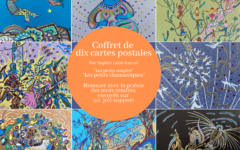 Coffret de dix cartes postales originales et colorées