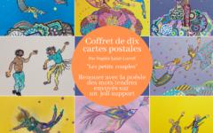 Coffret de dix cartes postale originales, joyeuses et colorées