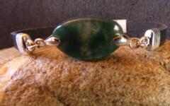 Bracelet – agate mousse d'Inde