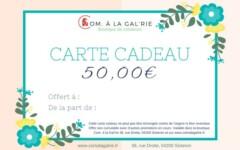 CARTE CADEAU – COM. À LA GAL'RIE