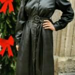 Robe noire en simili Taille Unique