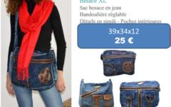 SAC BESACE en jean