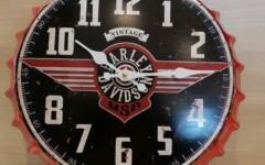 Pendule Harley Davidson métal Ø 35 cm