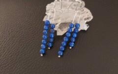 Boucle d'oreille Argent-Lapis Lazuli