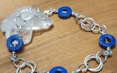 Bracelet Argent-Lapis Lazuli