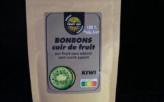 Bonbons cuir de fruit kiwi