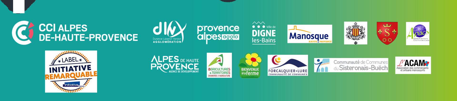 Les partenaires et les soutiens d'omondrive.fr sont la CCI04 des Alpes de Haute-Provence, la ville de Manosque, Digne-les-Bains, Forcalquier, les associations de commerçants, la CCI05, la Chambre d'agriculture 04, Bienvenue à la Ferme, la ville de GAP 05